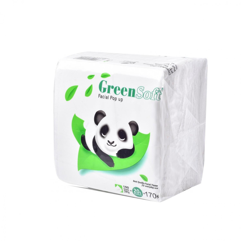 Tisu Meja Makan Tissue Pop Up Green Soft Panda 170 sheets 1 - Tissueku - tissueku